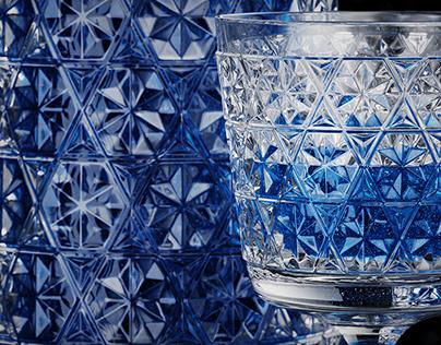 Glassbottle blue