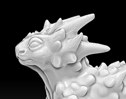 The 3D little dragon model