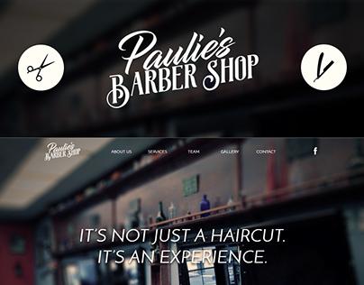 Barber Site Mockup