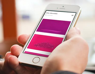 Concept & UI design artist's website ankeroehrscheid.de