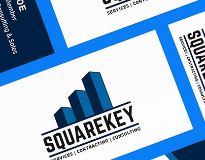 SquareKey logo and business card design
