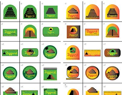 Ziggurat Cuisine: Logo Designs