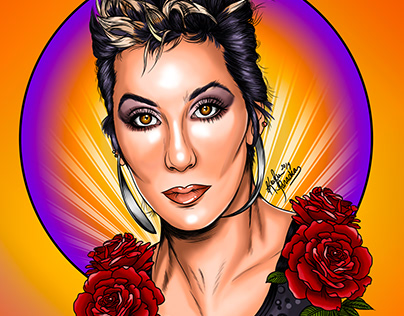 Digital Portrait: Cher 80s