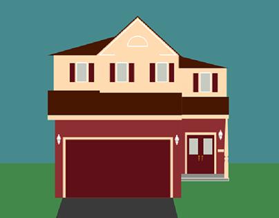 Childhood House GIF Animation