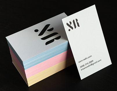 Logo design process for Sara Radin