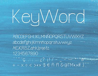 KeyWord Font