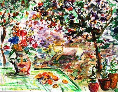 Watercolour drawings