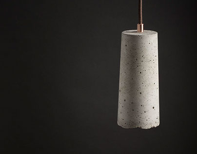 concrete lamp - product photography