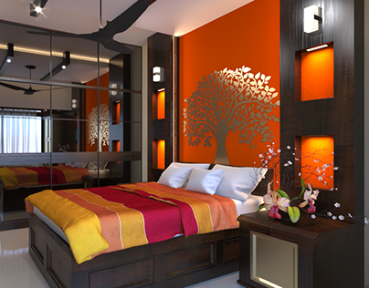 Master Bedroom Interior Animation