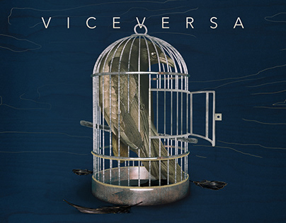Viceversa single cover - Digital collage illustration