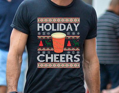 Heavy graphics Christmas ugly t shirt