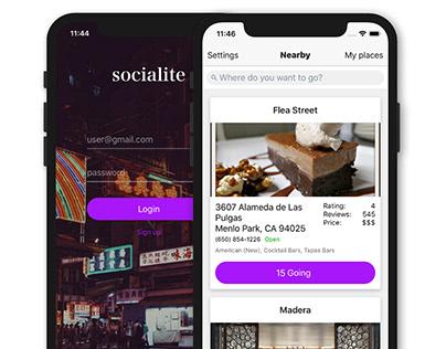Socialite - React Native App