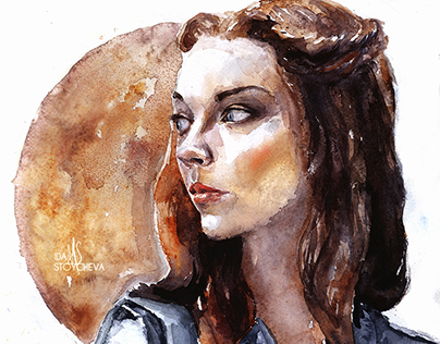 Margaery Tyrell Watercolor Portrait
