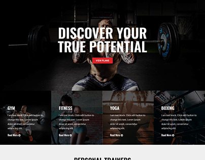 Gym and Fitness Wordpress Template