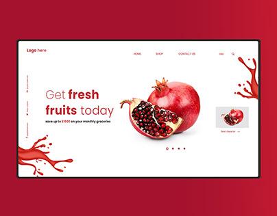 Fresh Fruit Website