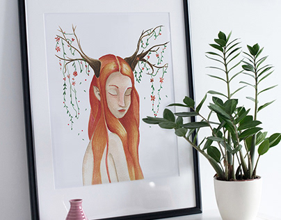 Watercolor Painting _ Girls