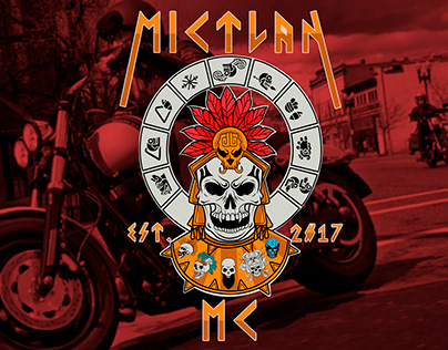 MICTLAN Bikers Moto-Club MX Logo