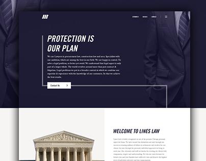 Lines Law Website - Concept