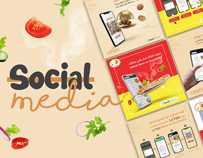 Social Media Filfilla & La Pate Restaurants KSA