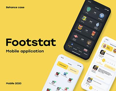 Footstat - sport mobile application