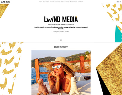 Lw/ND Media Website UX Design