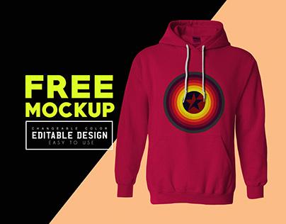 Men's Hoodie Mockup Free Download