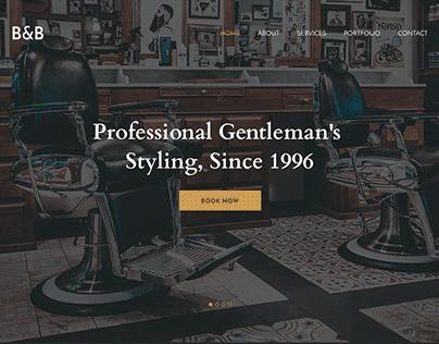Barber Stylist Fashion Landing Page UI/UX Web Design