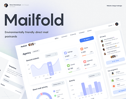 Mailfold mailing postcards UI/UX Web Design