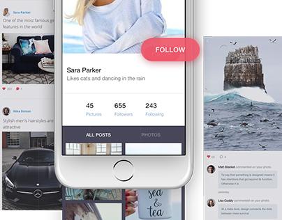 Hook Me - Social Network App for iOS