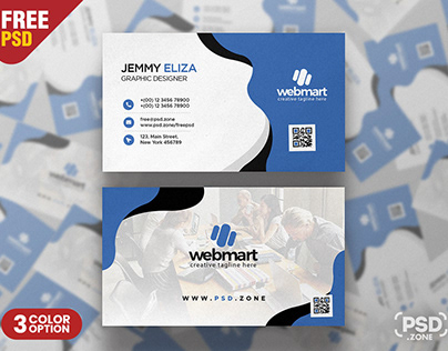 Elegant Modern Business Card PSD Template