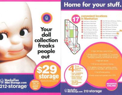 Manhattan Mini Storage - Postcard Designs