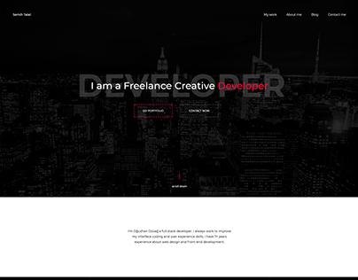 UX/UI | One Page Portfolio