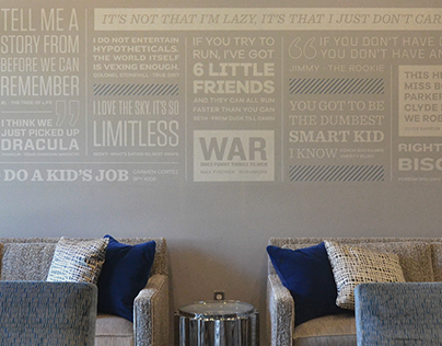 Azul Movie Quote Wall