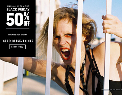 Black Friday Campaign for Brand JAKIMAC