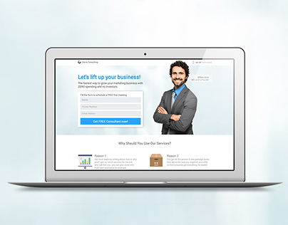 business consultant - pagewiz template