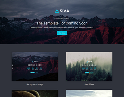 SIVA - Coming Soon Responsive Landing Page Template