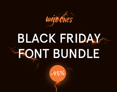 Black Friday Font Bundle Deal -93% off