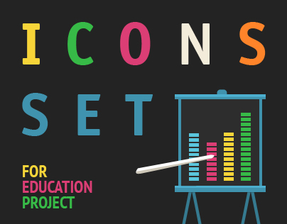Icons set for education project
