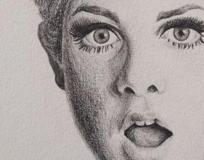 Drawing Twiggy