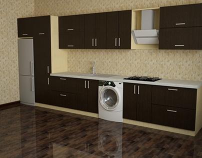 First 3D kitchen