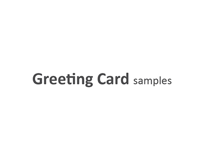 Samples of greeting cards
