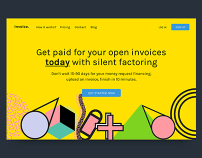 Invoice Landing Page