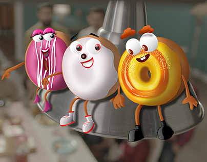 Dunkin Donuts TVC Animation