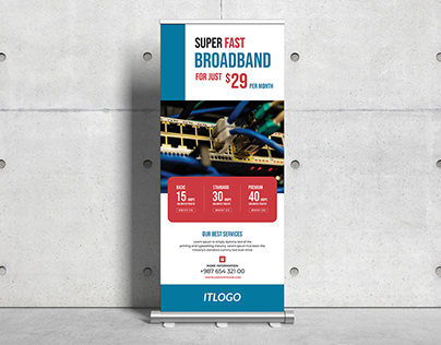 Internet Broadband Roll-up Banner