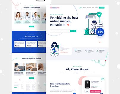 Healthcare Website Homepage UI Design V1