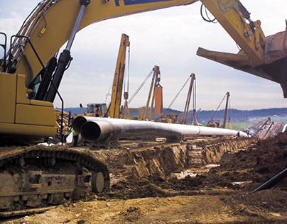 Dokumentation: Bau der Erdgasfernleitung MONACO