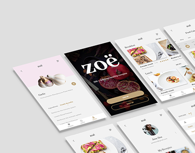 UI/UX Design - Zoë Food App