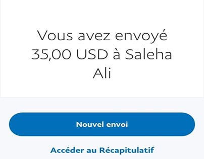 Some small payments received from my client