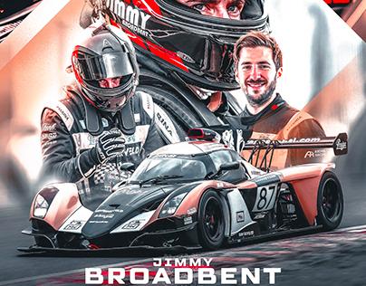 Jimmy Broadbent Praga Britcar Poster