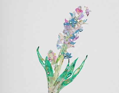 "flowers- ""Hyacinth"" ""Ranunculus"" ""Christmas rose"""